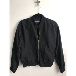 Express Black Bomber Jacket